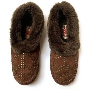 Lucky Brand suede slippers